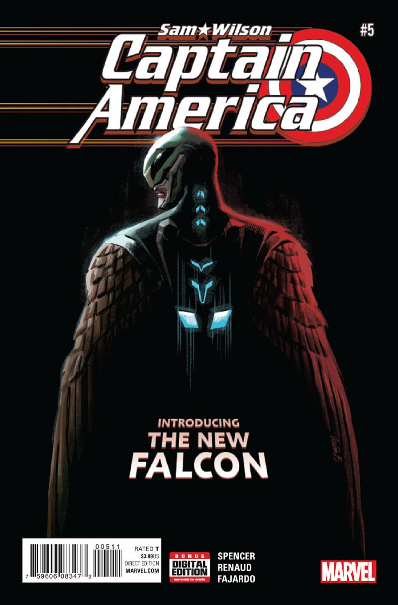 Captian America Sam Wilson Cover 5