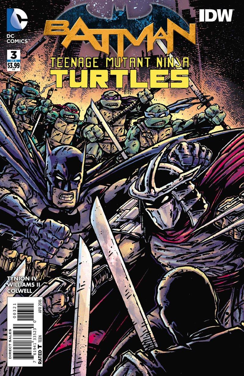 BATMAN:TEENAGE MUTANT NINJA TURTLES #3 Cover 2