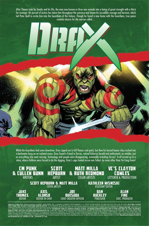 Drax #4 page 1