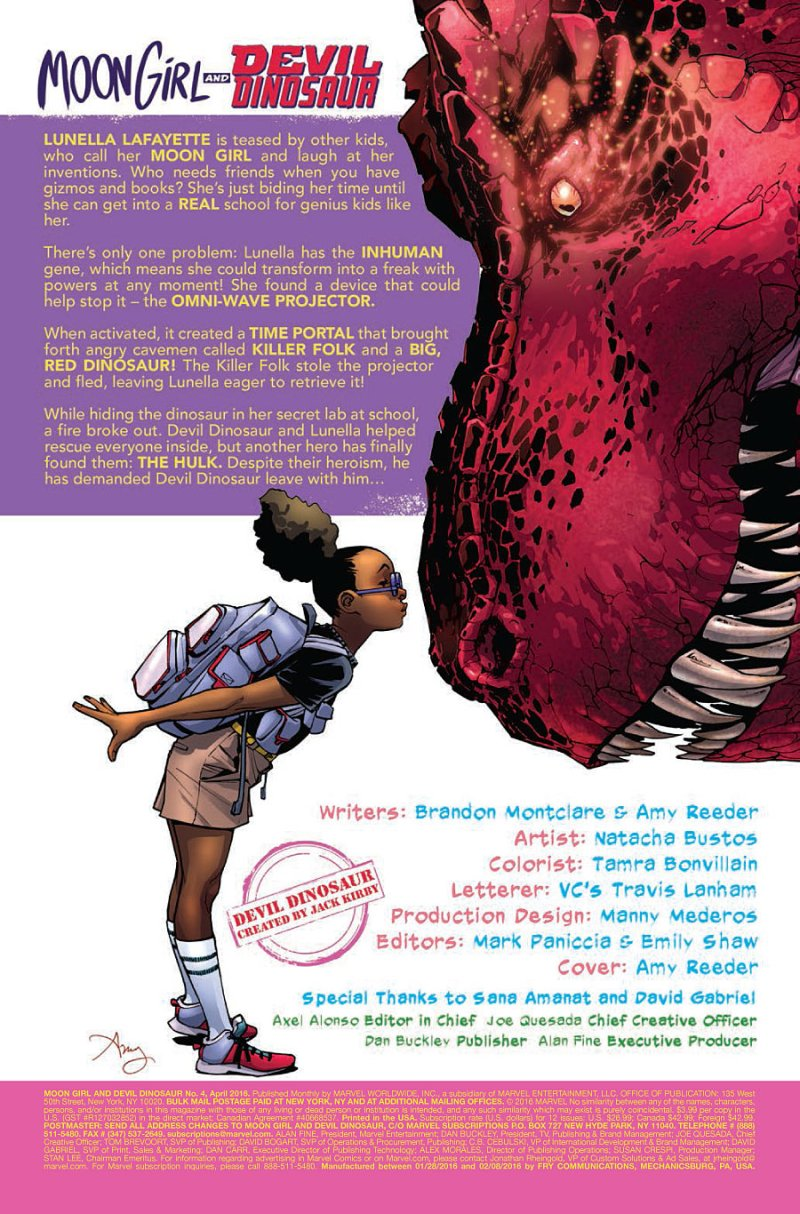 Moon Girl and Devil Dinosaur #4 page 1