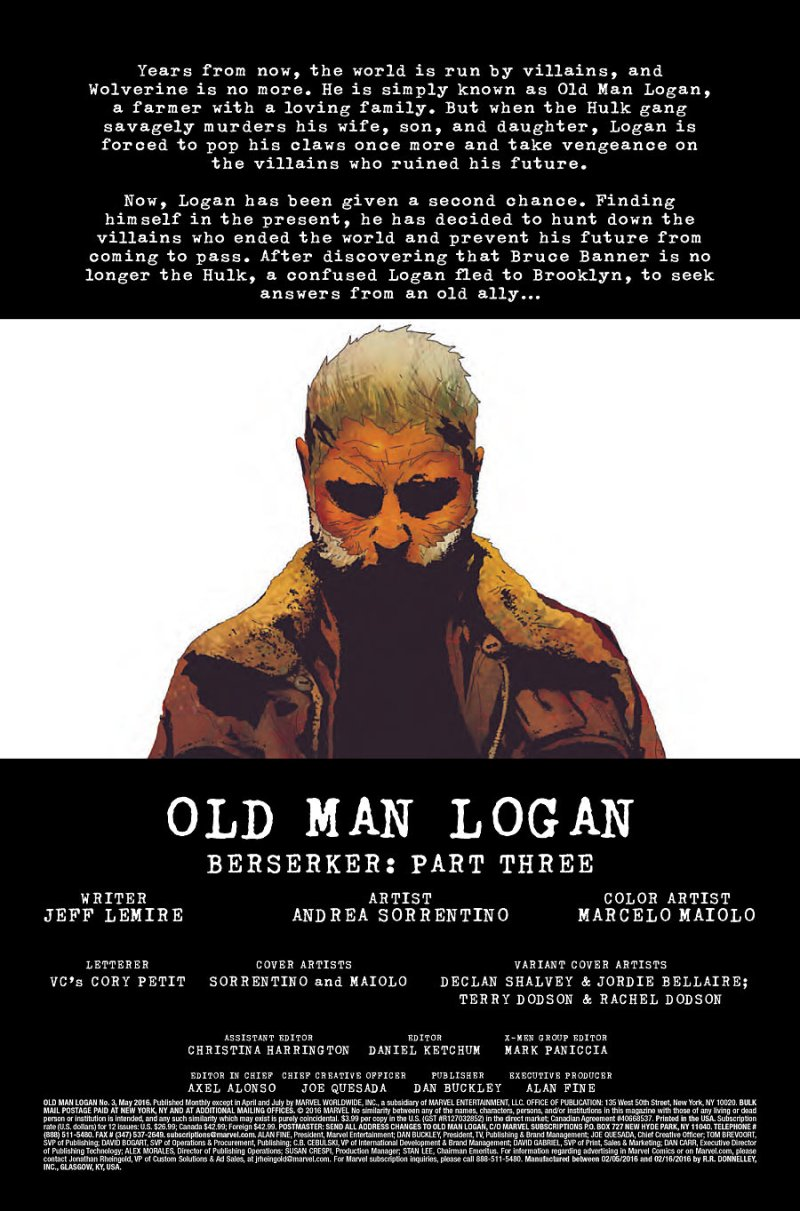 Old Man Logan #3 page 1