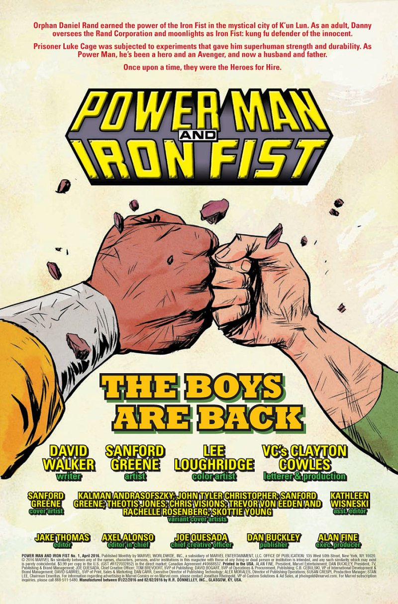 Power Man and Iron Fist #1 pg 1