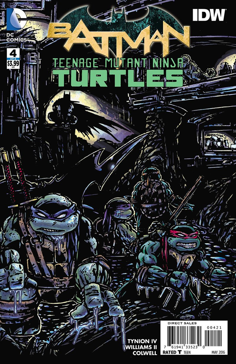 BATMAN:TEENAGE MUTANT NINJA TURTLES #4 Cover 2
