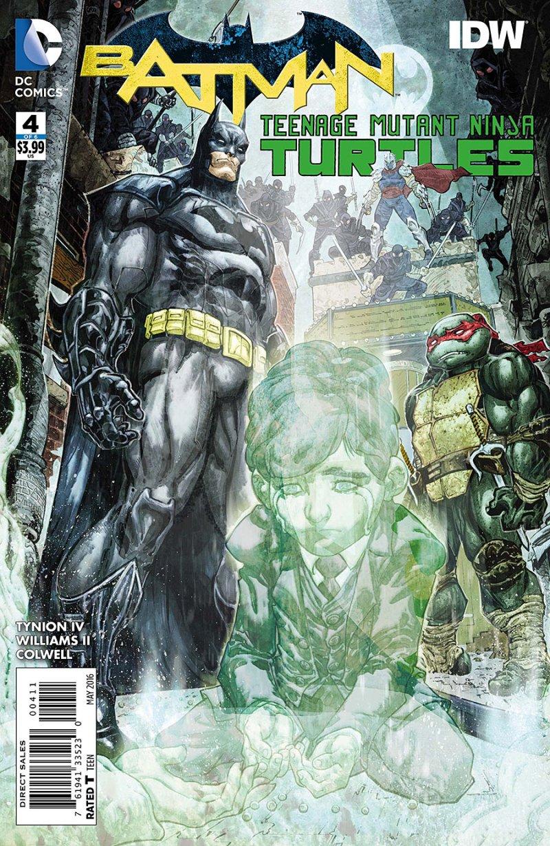 BATMAN:TEENAGE MUTANT NINJA TURTLES #4 Cover