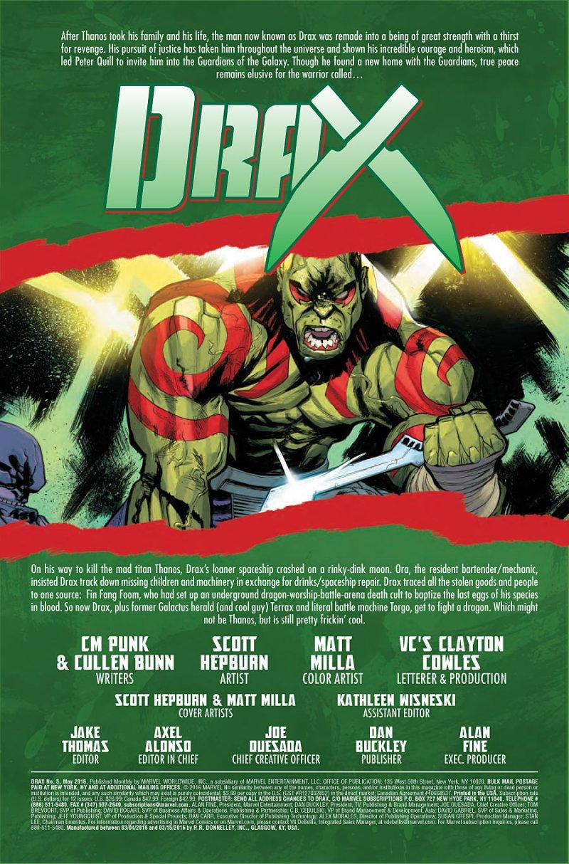 Drax #5 Page 1