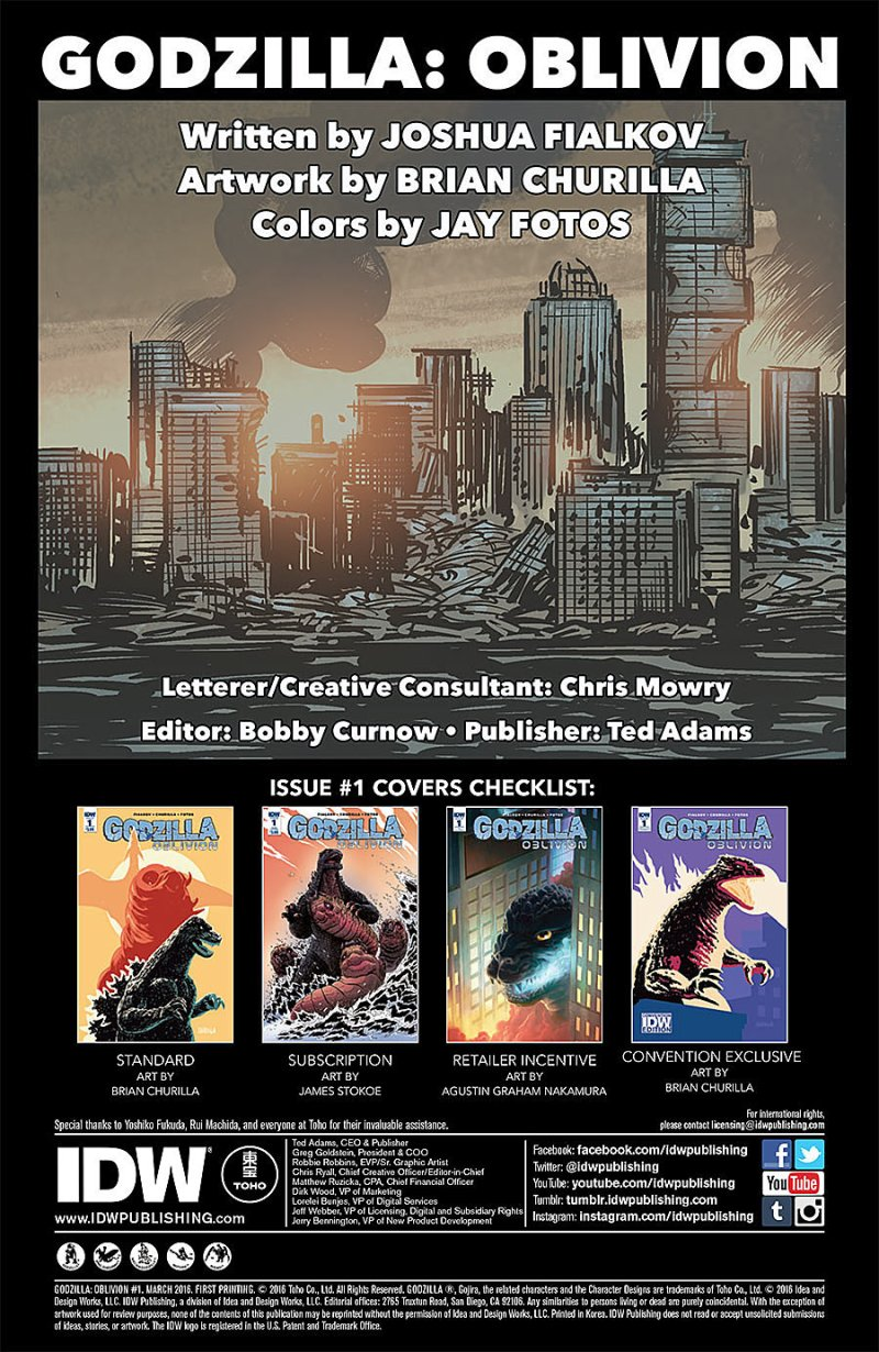 Godzilla Oblivion #1 Page 1