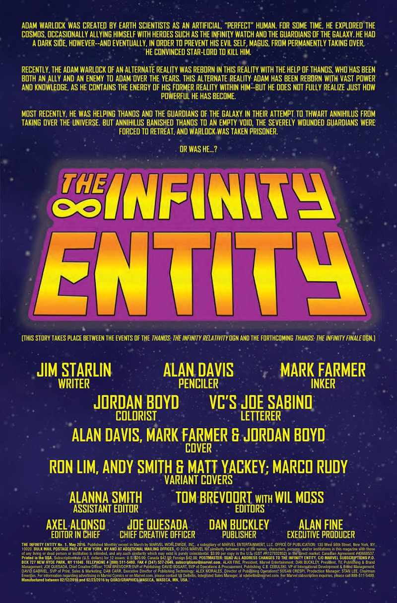 Infinity Entity #1 page 1