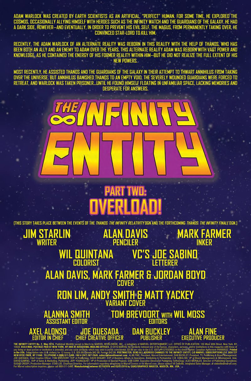 Infinity Entity #2 page 1