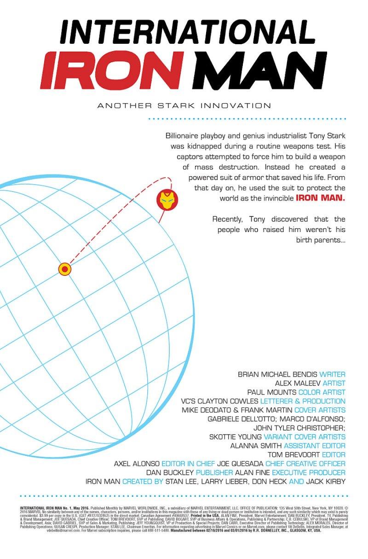 Internationa Iron man #1 page 1