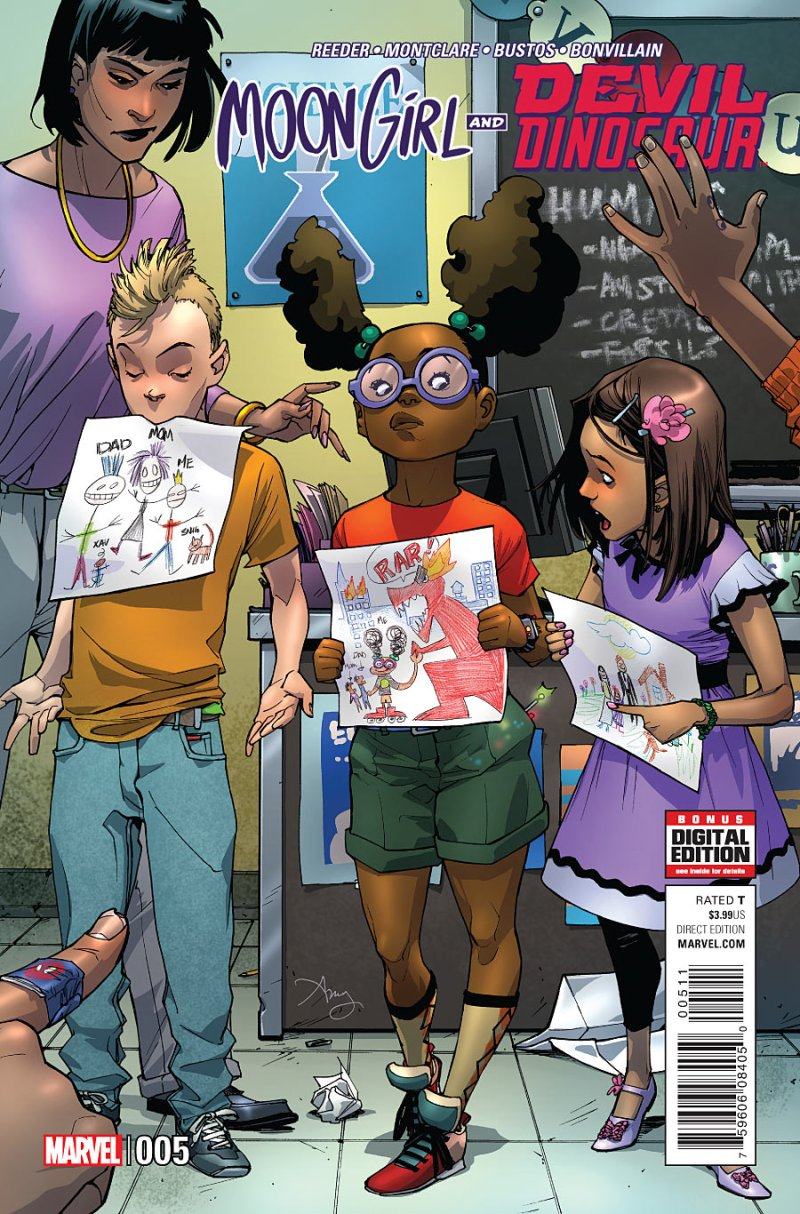 Mood Girl and Devil Dinosaur #5 Cover