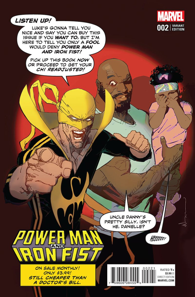 Power Man and Iron First #2 Cover 2