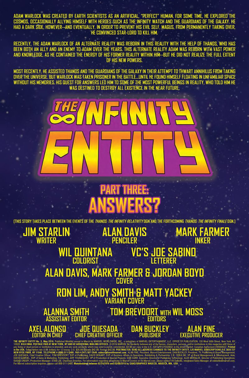 The Infintity Entity #3 page 1