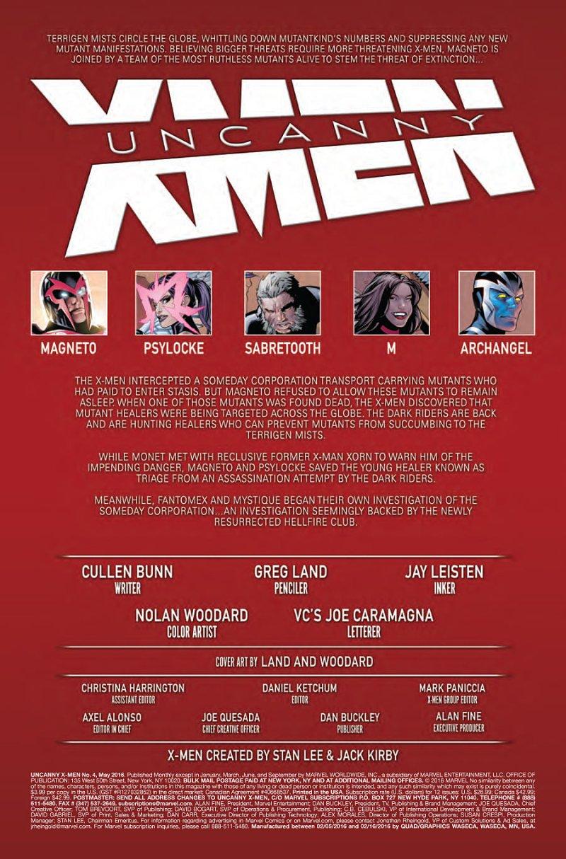 Uncanny X-Men #4 page 1