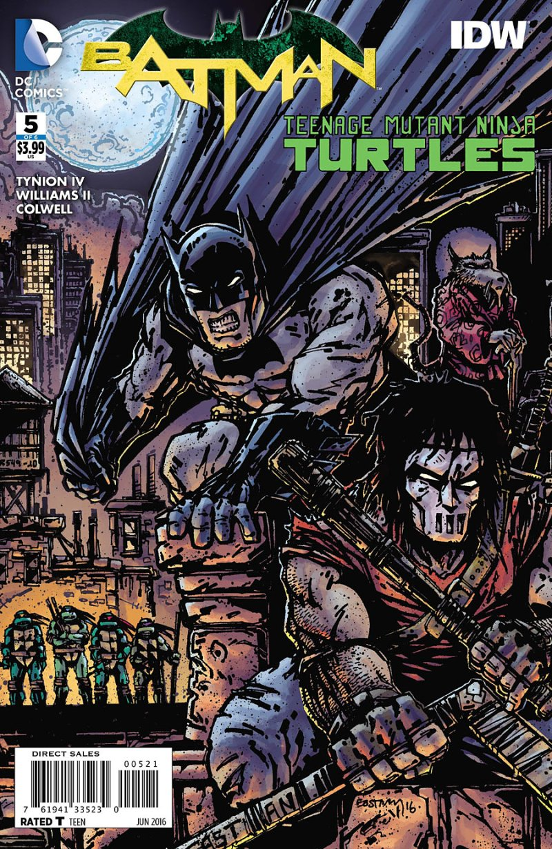 Batman Teenage Mutant Ninja Turtles #5 Cover 2