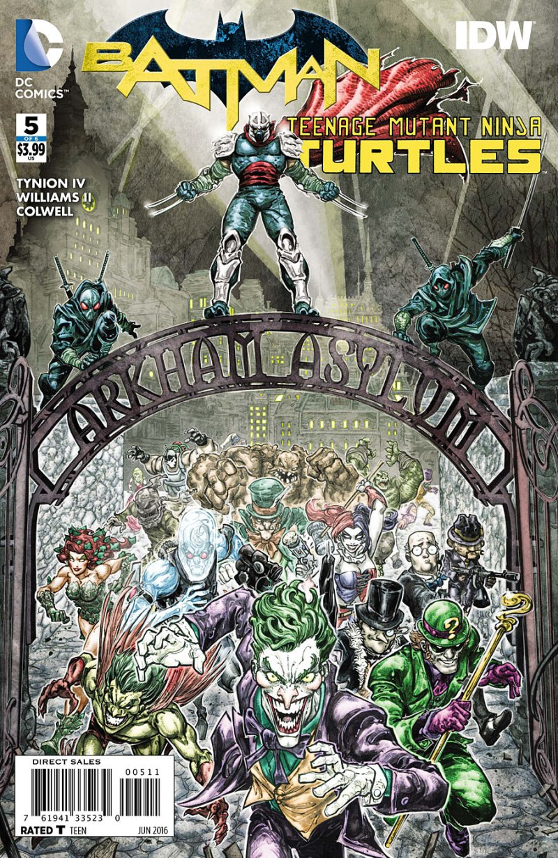 Batman Teenage Mutant Ninja Turtles #5 Cover