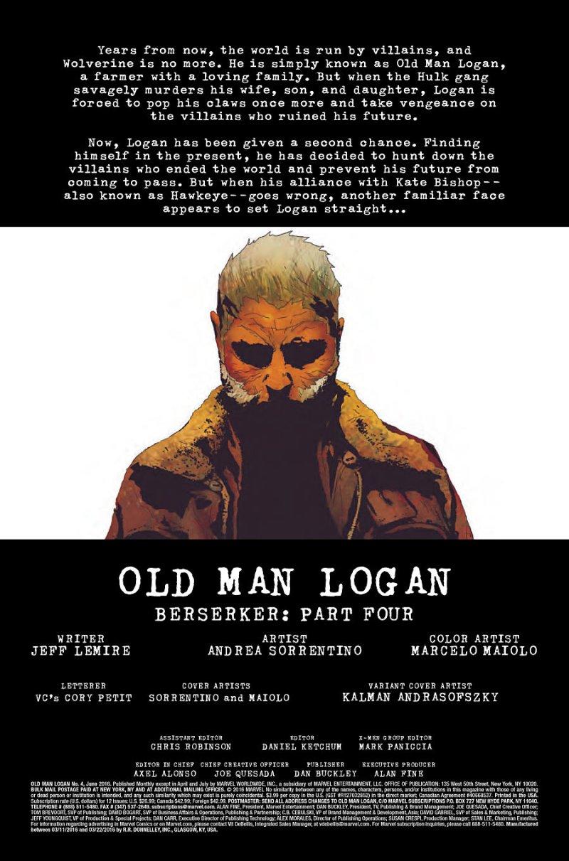 Old Man Logan #4 Page 1