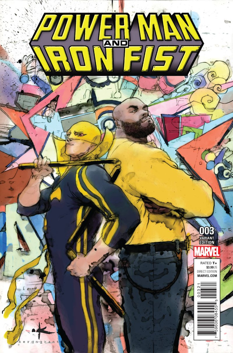 Power Man and Iron Fist #3 Cover 2