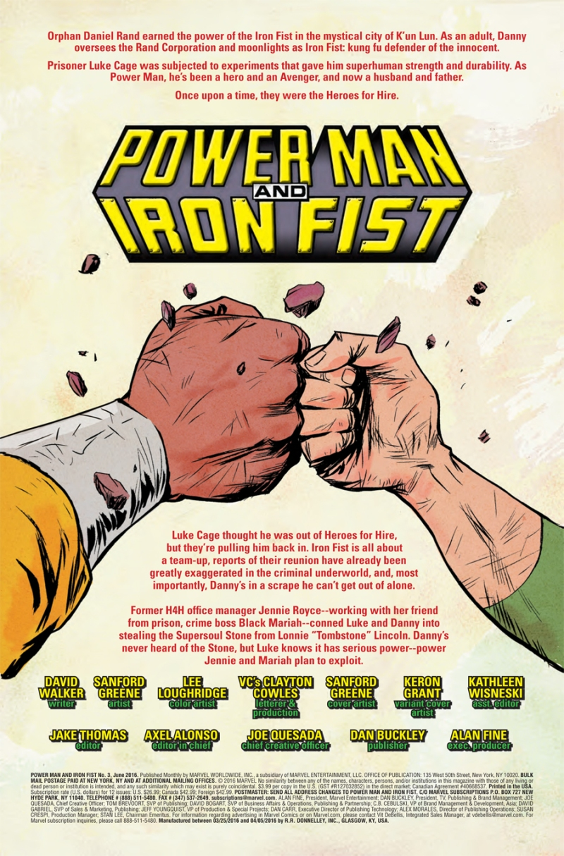 Power Man and Iron Fist #3 Page 1