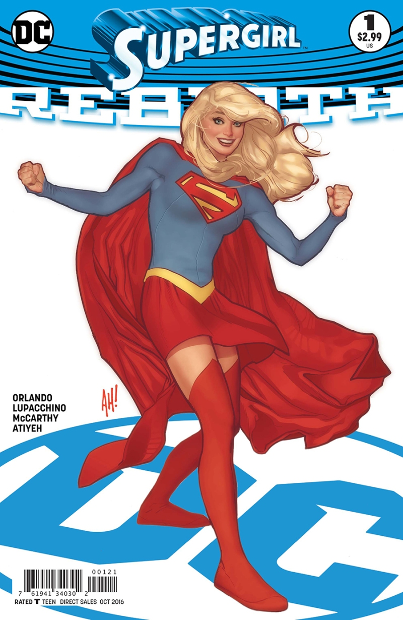 Supergirl Rebirth #1 Cover 2